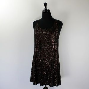 Eileen Fisher Sequined Tunic Tank/Dress, M